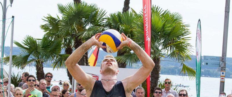 Fühlte sich mit dem dritten Platz im vergangenen Jahr bereits wohl in Überlingen: Benny Loritz (Photo: Nils Wuechner, volley-photo.de)